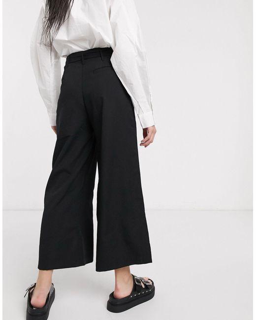Moon River Pantalon façon jupe-cullotte femme de coloris noir u3kbZ