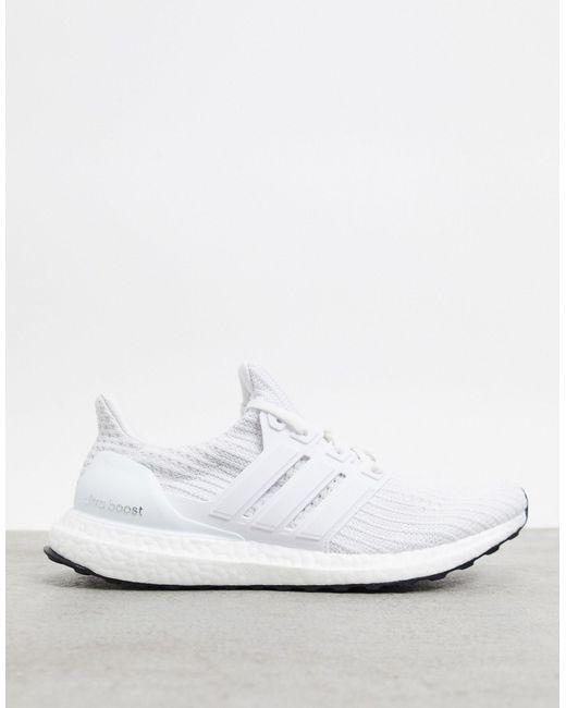 Белые Кроссовки Adidas Running Ultraboost-белый Adidas Originals для него, цвет: White