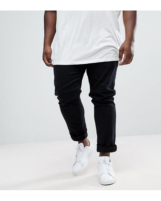 Farah - Black Plus Drake Slim Fit Jean In Twill for Men - Lyst