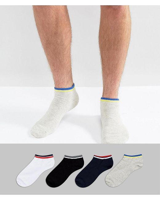 Jack & Jones | Multicolor Sneaker Socks 4 Pack for Men | Lyst