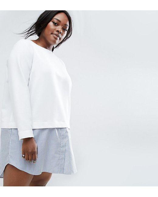 ASOS | White 2 In 1 Stripe Shift Dress | Lyst
