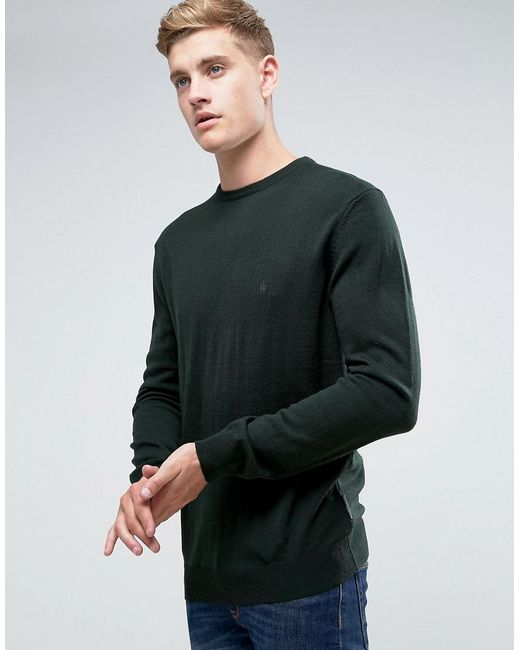 French Connection Green Crew Sweater for men