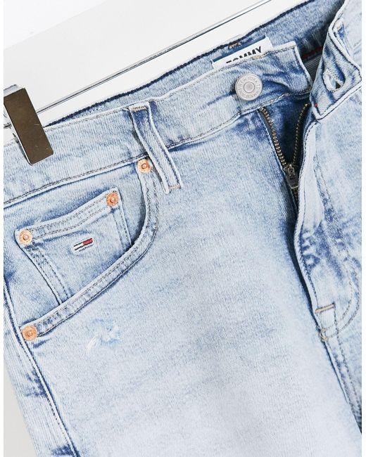 Короткие Джинсовые Шорты -синий Tommy Hilfiger, цвет: Blue