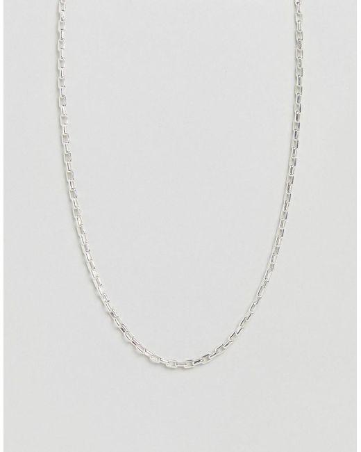 ASOS - Metallic Vintage Style Neckckchain In Silver for Men - Lyst