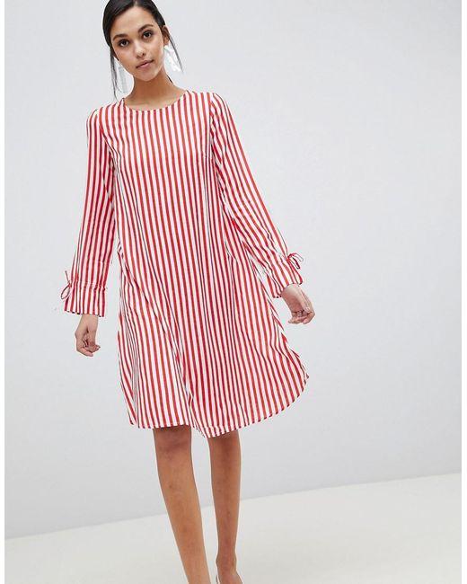 Y.A.S - Red Trey Striped Dress - Lyst ... 838158155