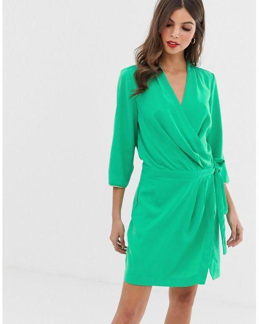 Robe nouée sur les côtés Vero Moda en coloris Green