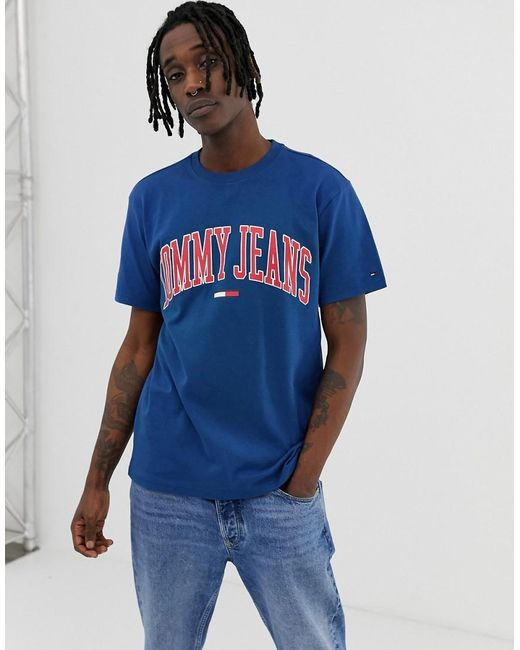 c1dded69 Tommy Hilfiger Relaxed Fit Collegiate Capsule T-shirt In Blue for men ...