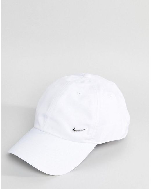 34e97fe31 Nike Metal Swoosh Cap In White for Men - Lyst