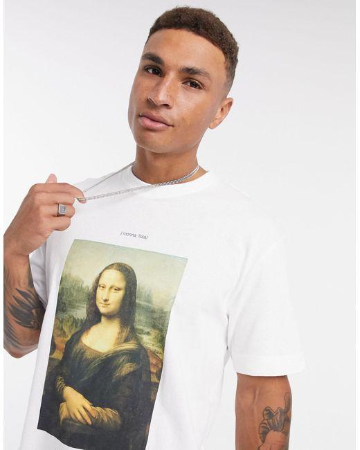 Белая Oversized-футболка С Принтом -белый Topman для него, цвет: White
