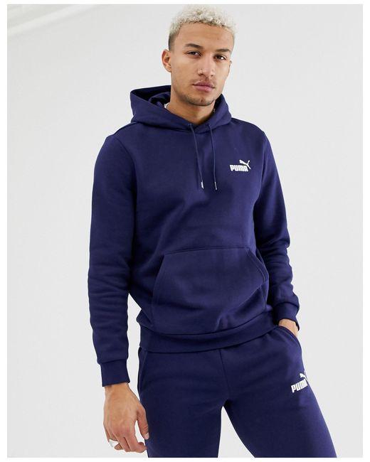 PUMA – Essentials – er Kapuzenpullover mit kleinem Logo in Blue für Herren