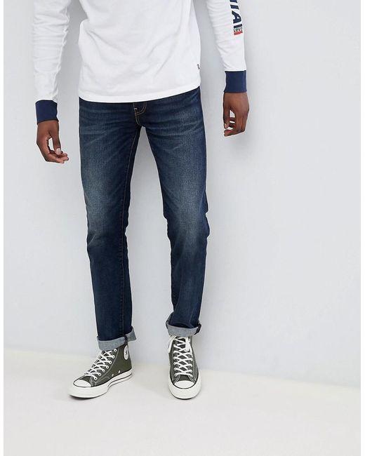 f395cb0b5526 Levi's - Blue 511 Slim Fit Low Rise Jeans Dark Vintage for Men - Lyst ...