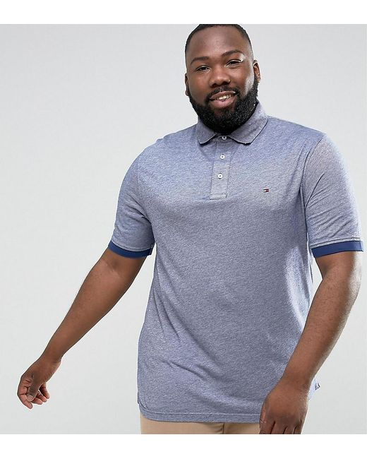 Tommy Hilfiger | Plus Boris Polo Slim Fit Flag Logo In Blue for Men | Lyst