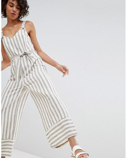 Stripe Jumpsuit - Multi Stradivarius Clearance Shopping Online Cheap Sale Best Place Clearance Clearance Store 8G0eD
