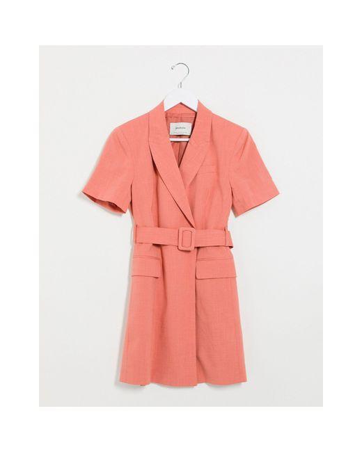 Vestito blazer rosa di Stradivarius in Pink