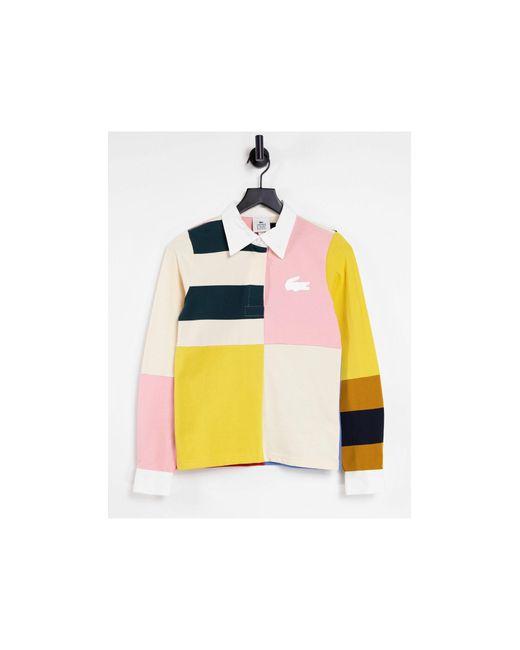 Топ С Длинными Рукавами В Стиле Колор Блок -розовый Цвет Lacoste, цвет: Multicolor