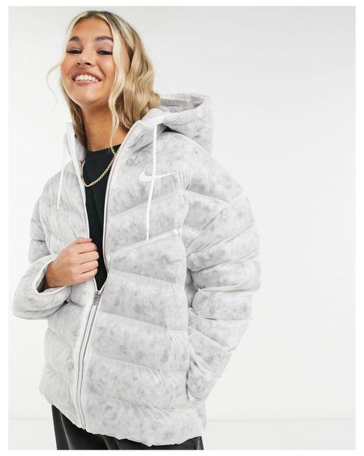 Белая Дутая Куртка Move To Zero-белый Nike, цвет: White