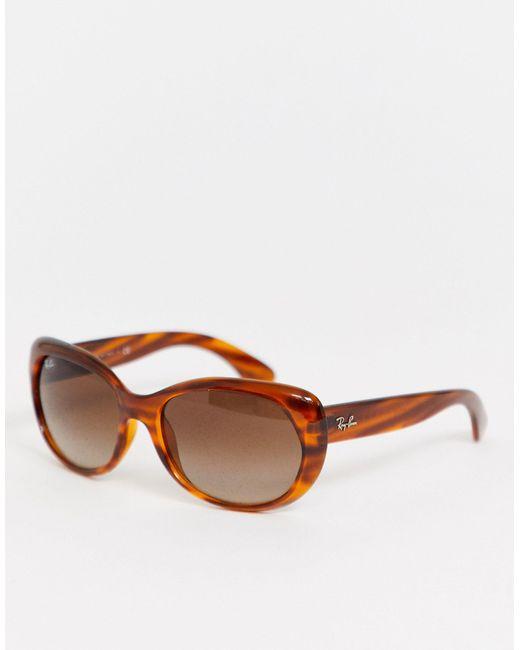 Черепаховые Круглые Солнцезащитные Oversize-очки 0rb4325-коричневый Ray-Ban, цвет: Brown