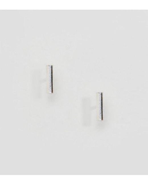 Kingsley Ryan Metallic Sterling Silver Bar Ear Stud Earrings