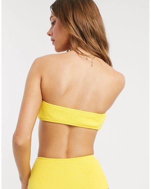 Бикини Топ-бандо С Эффектом Помятости -желтый Bec & Bridge, цвет: Yellow