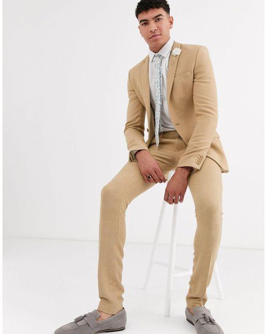 ASOS Tall - Pantalon homme de coloris neutre DPX3o