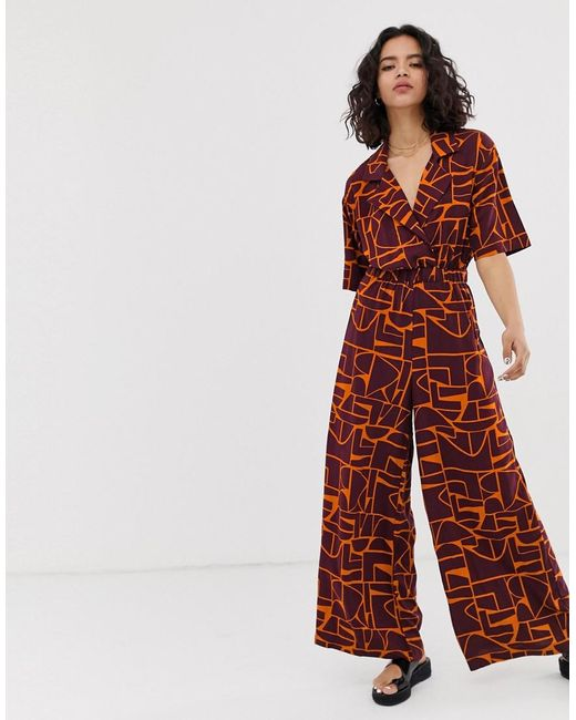 Native Youth Multicolor Relaxed Jumpsuit In Abstract Print