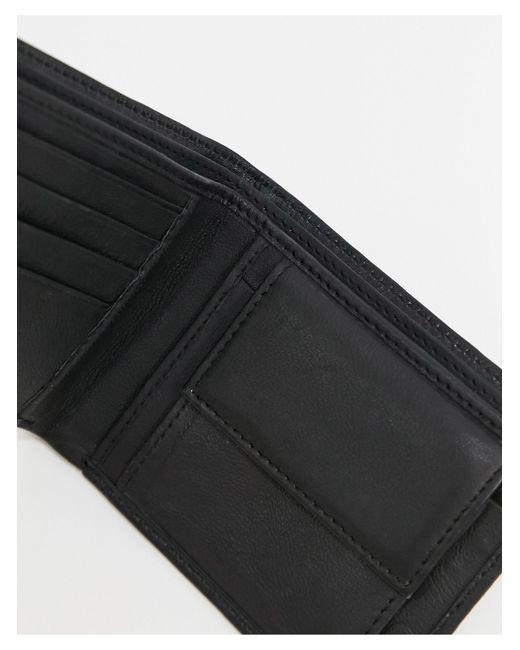 Bolongaro Trevor Black Leather Billfold Wallet for men