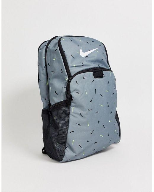 Серый Рюкзак С Логотипом-галочкой Brasilia Nike для него, цвет: Gray
