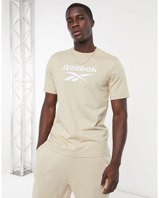 Бежевая Футболка С Логотипом Classics-белый Reebok для него, цвет: White