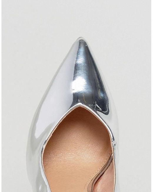 Bureau Perce-empeigne Haute Chaussures Pointues - Argent xQxhyY