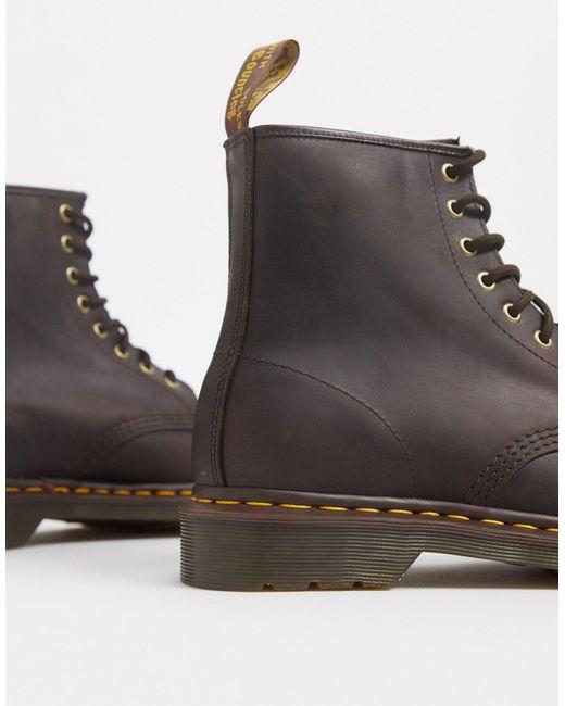 Коричневые Ботинки С 8 Парами Люверсов 1460-коричневый Dr. Martens для него, цвет: Brown