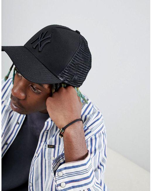 f6010ddf3 Men's Black Trucker Cap Ny Yankees