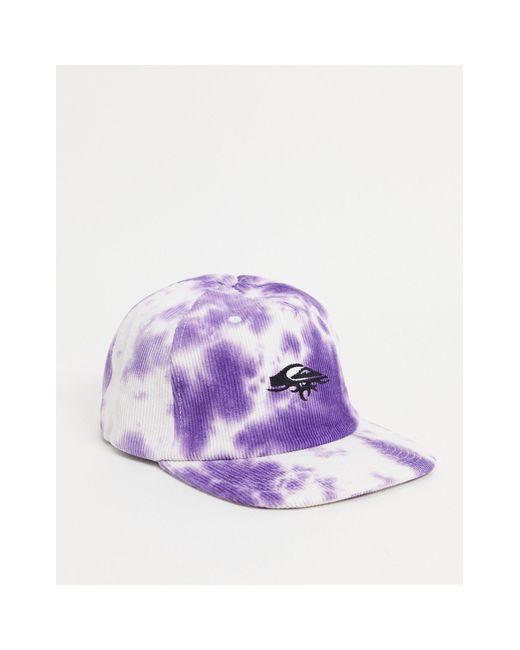 Фиолетовая Вельветовая Кепка С Принтом Тай-дай Og-фиолетовый Цвет Quiksilver, цвет: Purple