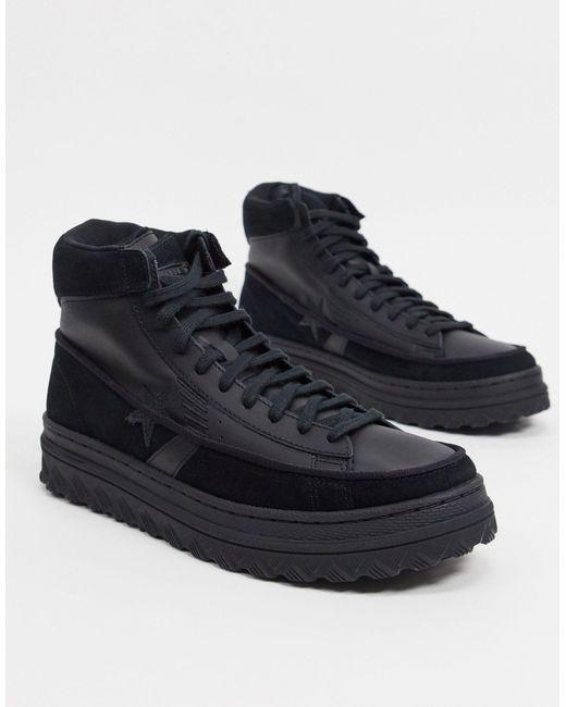 Кожаные Высокие Кроссовки Черного Цвета Pro Leather X2-черный Converse, цвет: Black