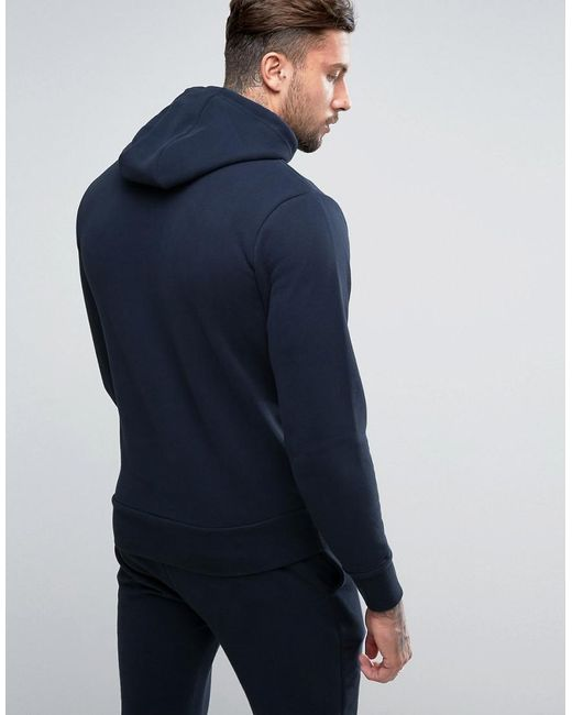98928afe Men's Blue Hoodie With Small Logo In Navy
