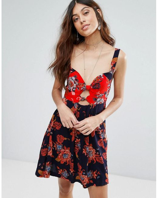 Free People | Blue Baby It's You Printed Mini Dress | Lyst