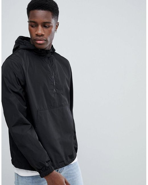 ASOS - Windbreaker In Black for Men - Lyst