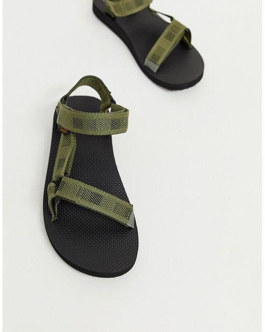 Teva Green Original Universal Tech Sandals In Khaki for men