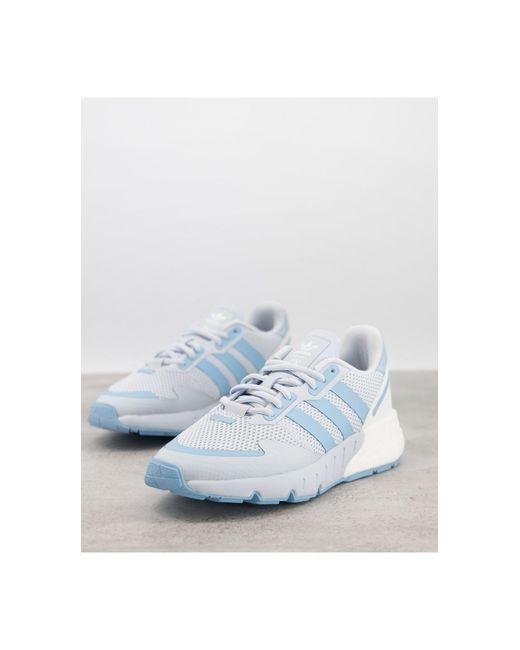 Голубые Кроссовки Zx 1k Boost-голубой Adidas Originals, цвет: Blue