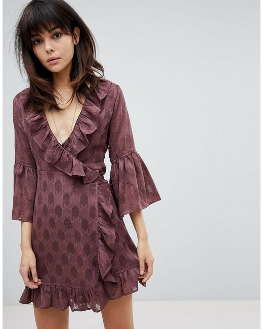 Religion Red Wrap Front Dress