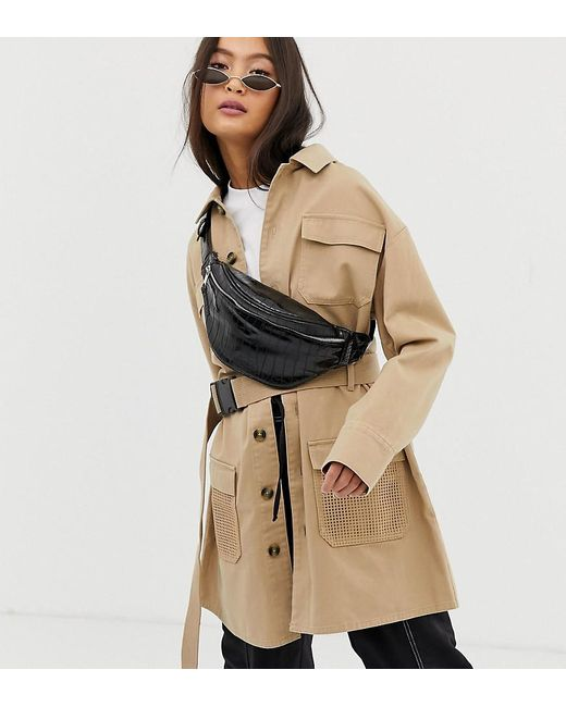 6ccef8d45991 Collusion - Natural Utility Jacket With Belt - Lyst ...