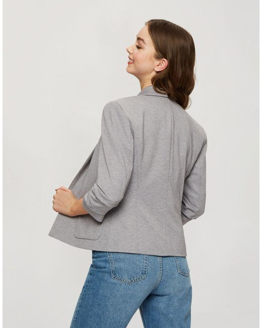 Miss Selfridge Gray Patch Pocket Ponte Blazer