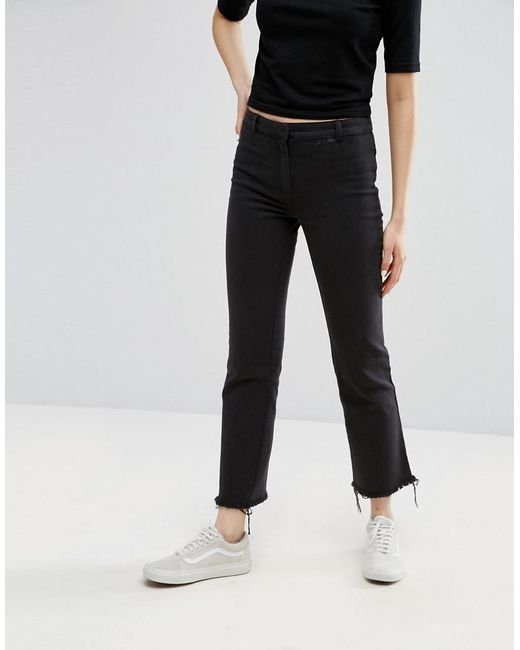 Sense Trousers with Zipped Hem - Black Weekday uOceVosI3