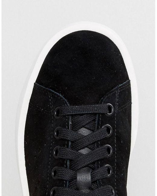 adidas black nubuck leather stan smith