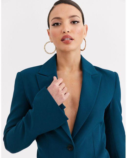 Сине-зеленый Пиджак ASOS, цвет: Blue