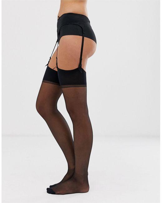 Jonathan Aston Black Seduction Set Stockings And Suspender