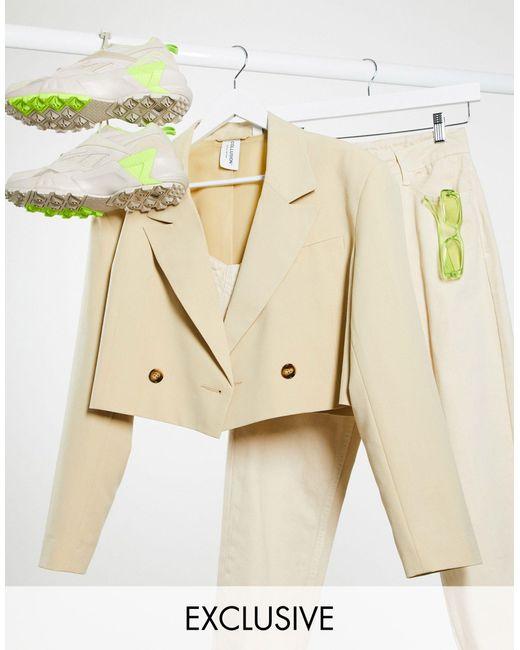 Светло-коричневый Короткий Пиджак -розовый Collusion, цвет: Natural