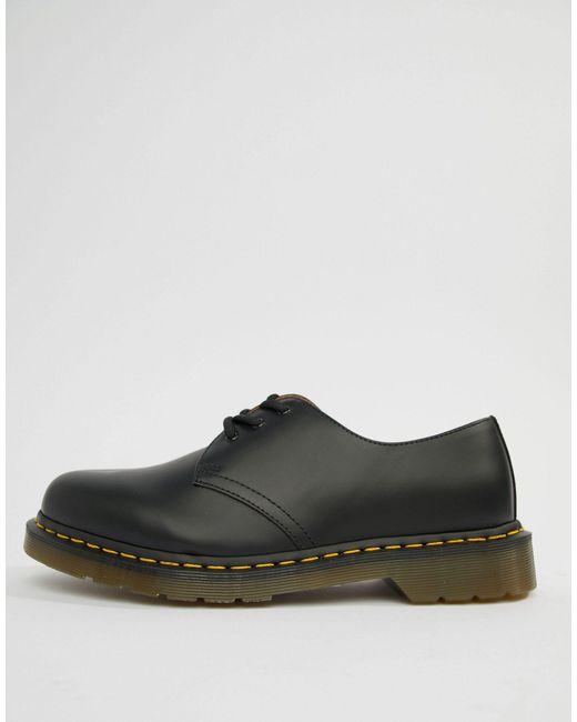 Черные Туфли С 3 Парами Люверсов Original 11838002-черный Dr. Martens для него, цвет: Black