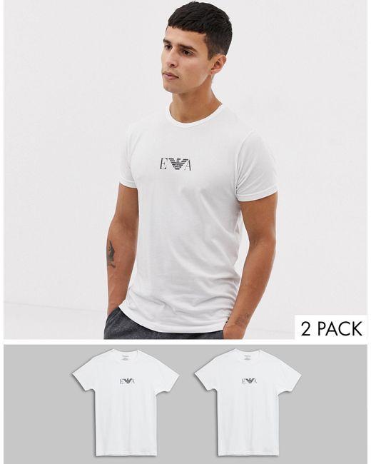 Emporio Armani White 2 Pack Tshirt for men