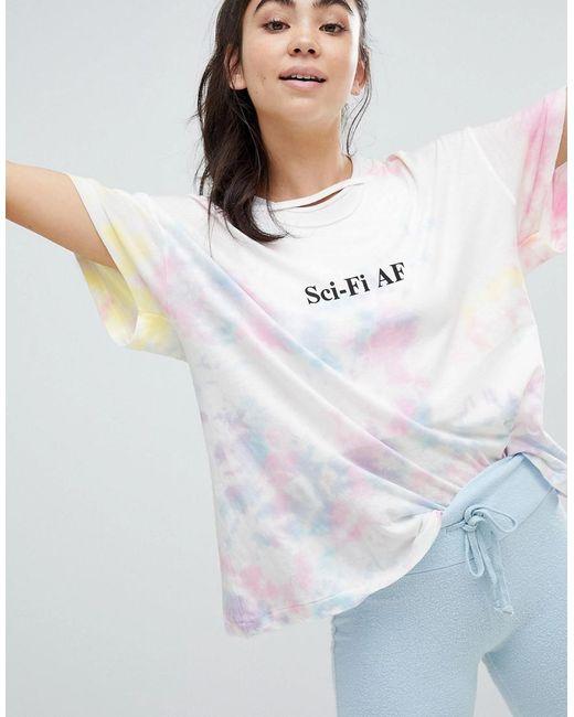 Wildfox - Multicolor Sci-fi Af Tie Dye T-shirt - Lyst
