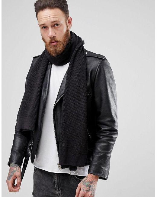 AllSaints - Trias Scarf In Black for Men - Lyst